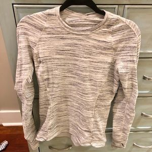 Lululemon Grey Long Sleeved Workout Top